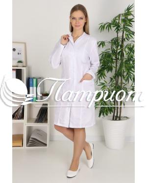 Халат медицинский женский «Модельный» ткань ТИСИ Модель 9