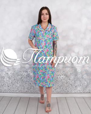 Платье женское бязь на 3 пуговицах